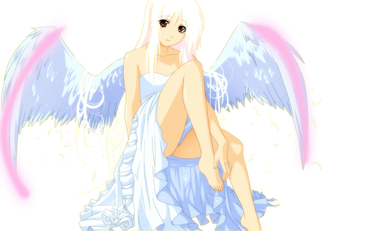 High resolution Angel Anime hd 1280x800 wallpaper ID:61933 for PC