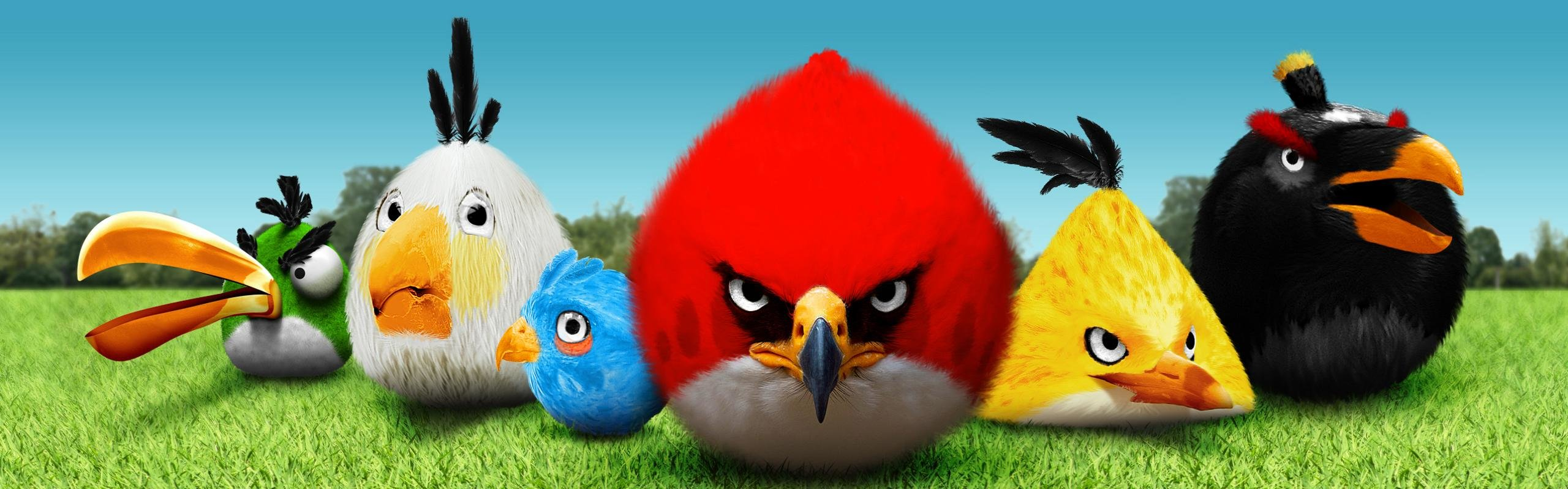 Download dual screen 2560x800 Angry Birds computer wallpaper ID:256703 for free