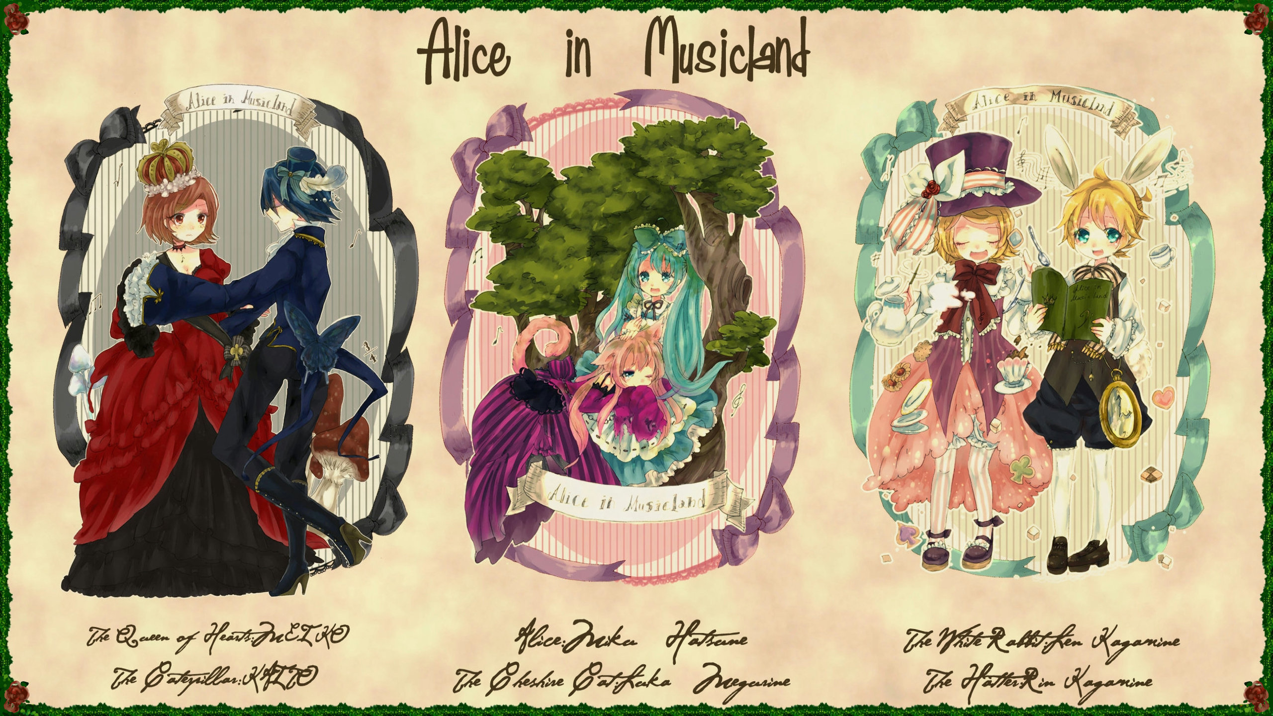 Alice In Wonderland Anime Wallpapers 2560x1440 Desktop Backgrounds