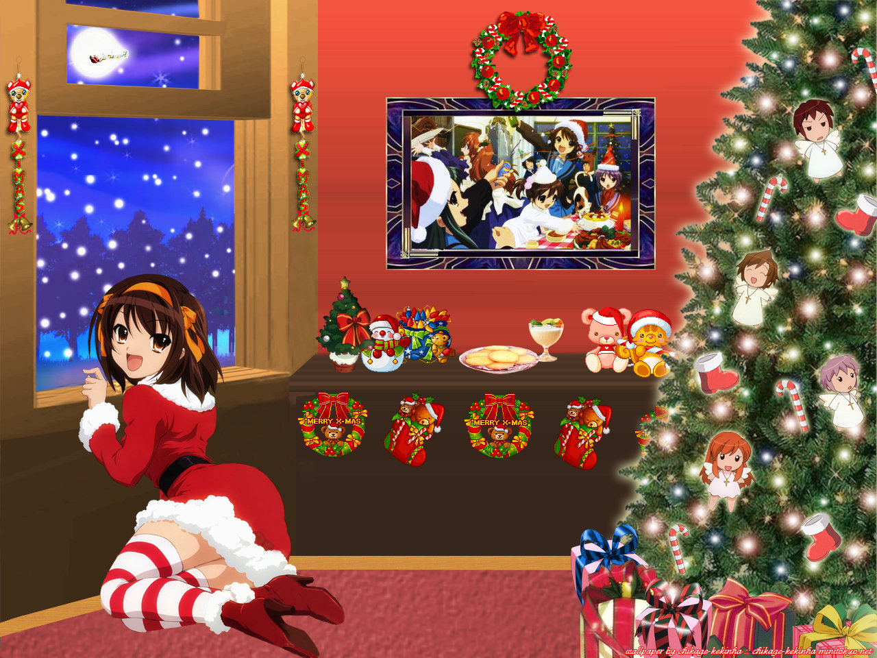 Best Christmas Anime background ID:24875 for High Resolution hd 1280x960 desktop