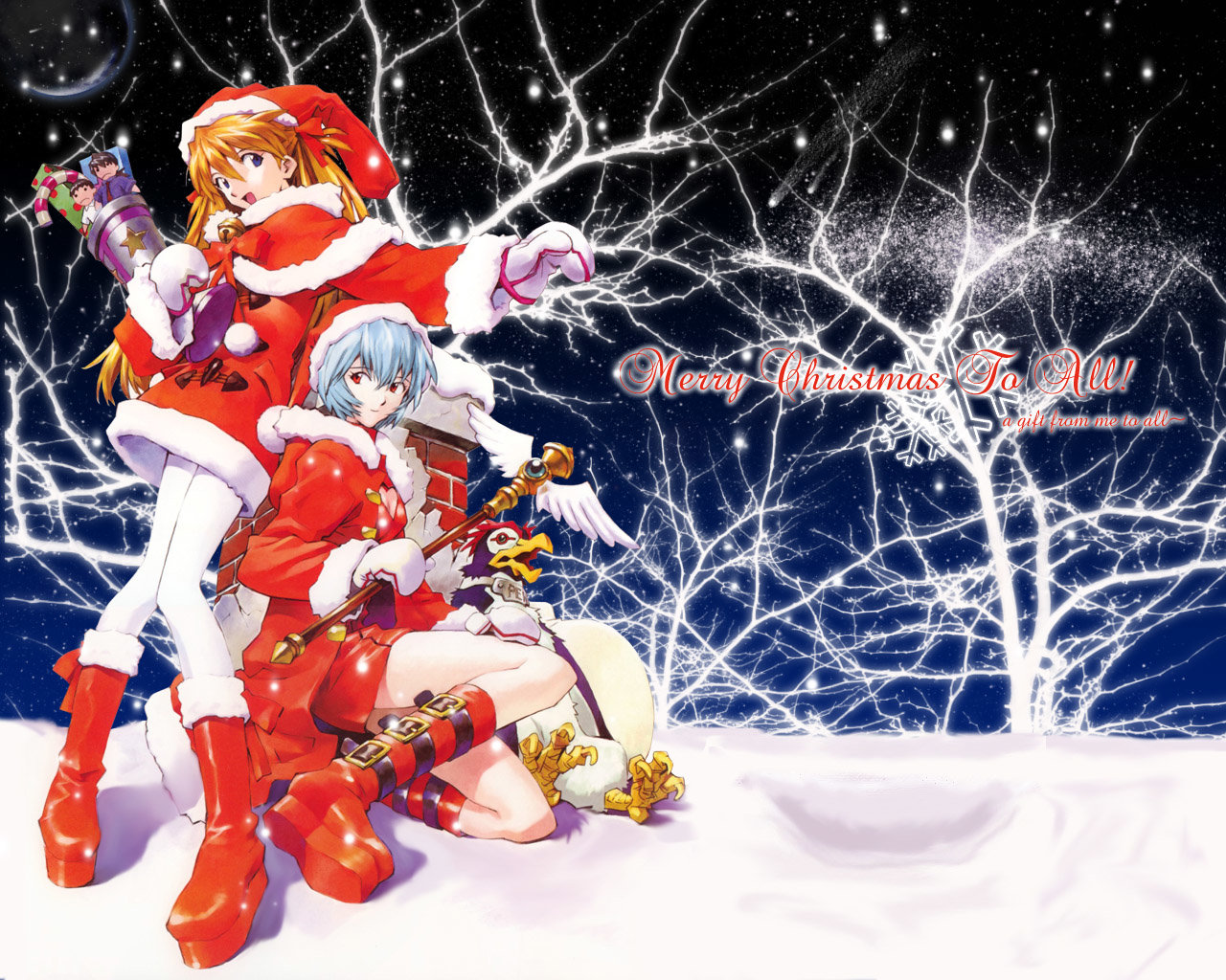Christmas Anime Wallpapers Hd For Desktop Backgrounds