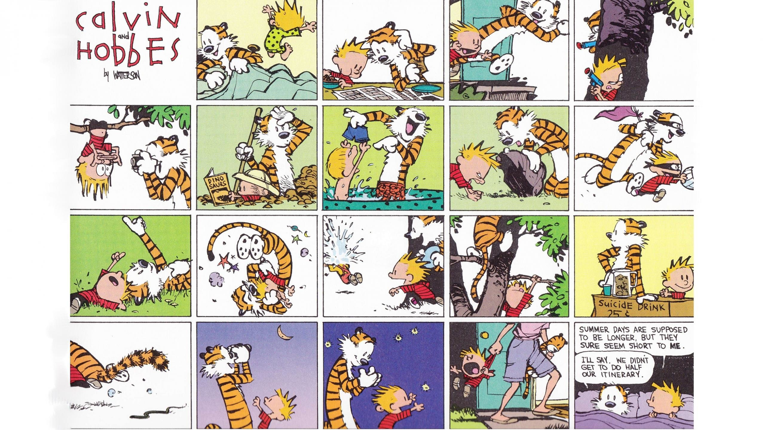 Free Download Calvin And Hobbes Background Id 211373 Hd 2560x1440