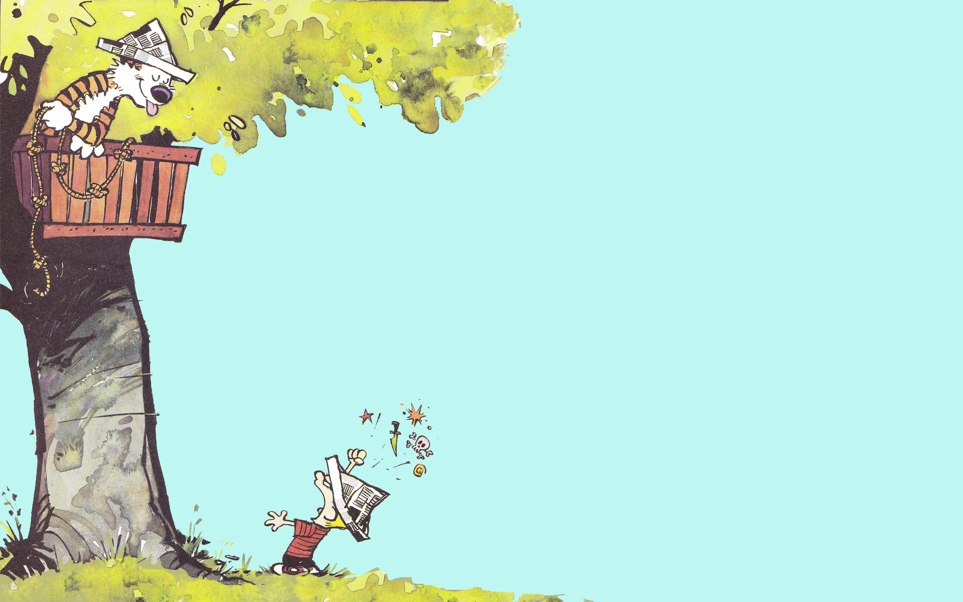 Best Calvin and Hobbes wallpaper ID:211397 for High Resolution hd 1920x1200 desktop