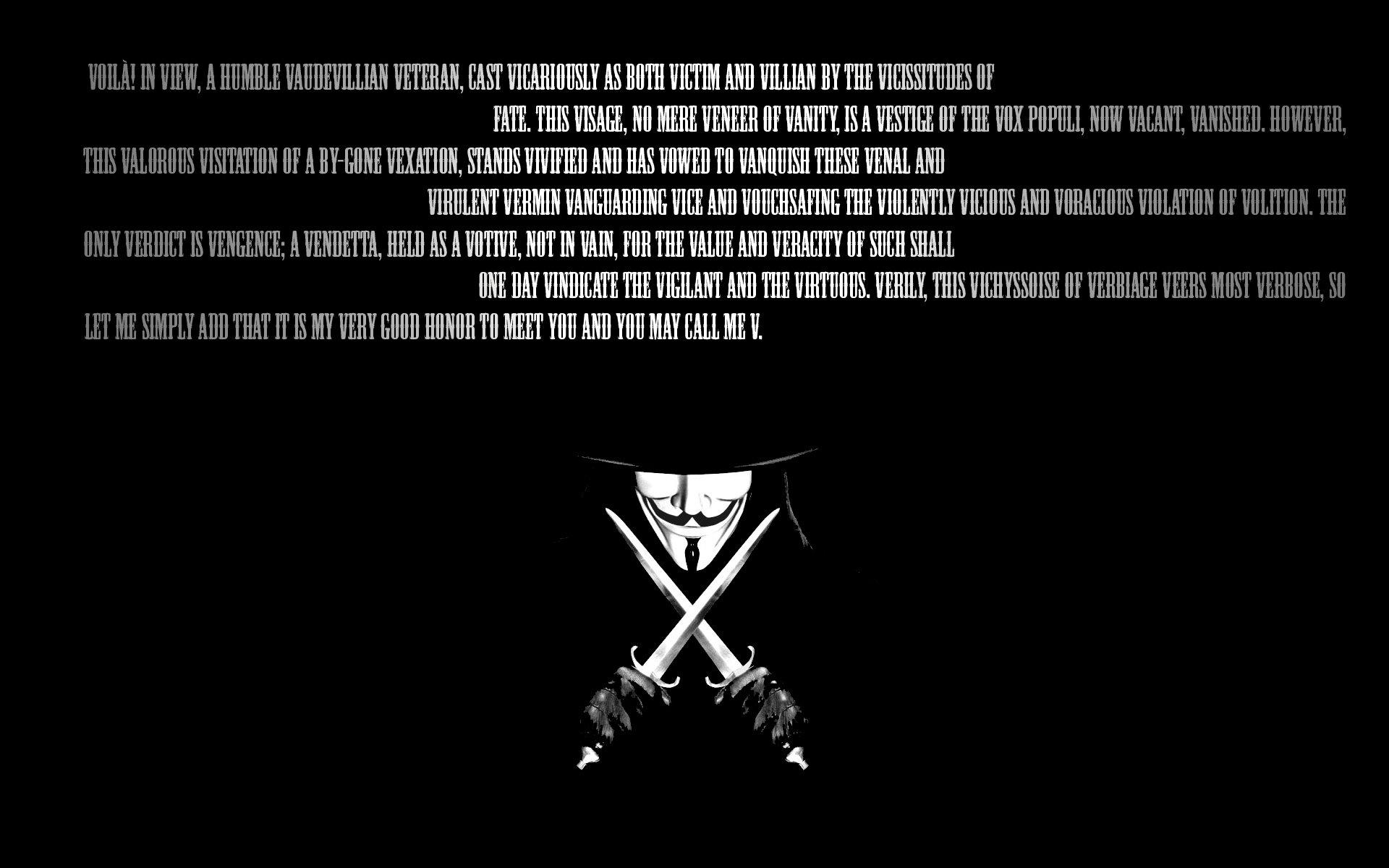 Best V For Vendetta Wallpaper Id 92136 For High Resolution Hd