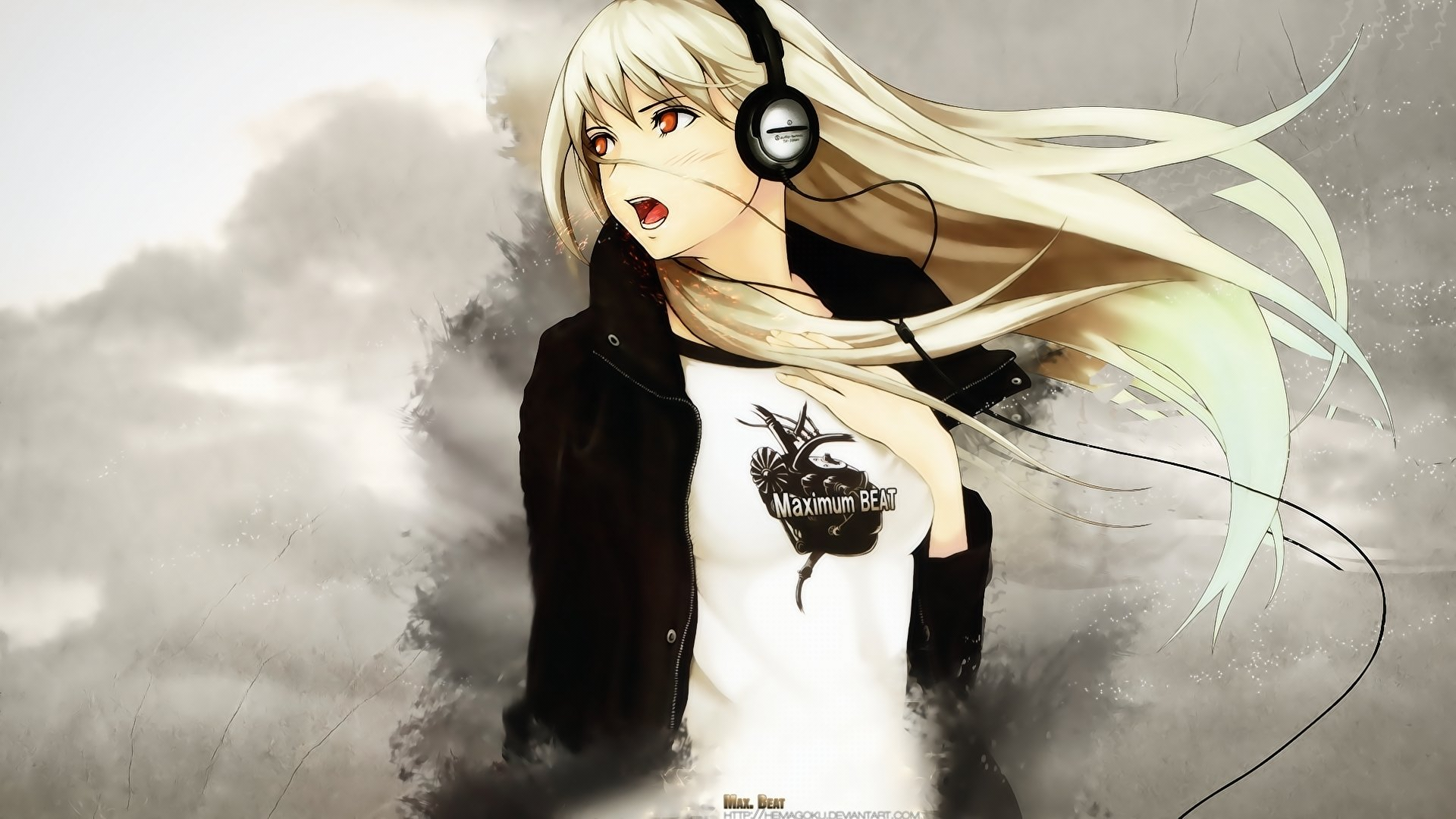Free Headphones Anime high quality background ID:142290 for hd 1920x1080 PC