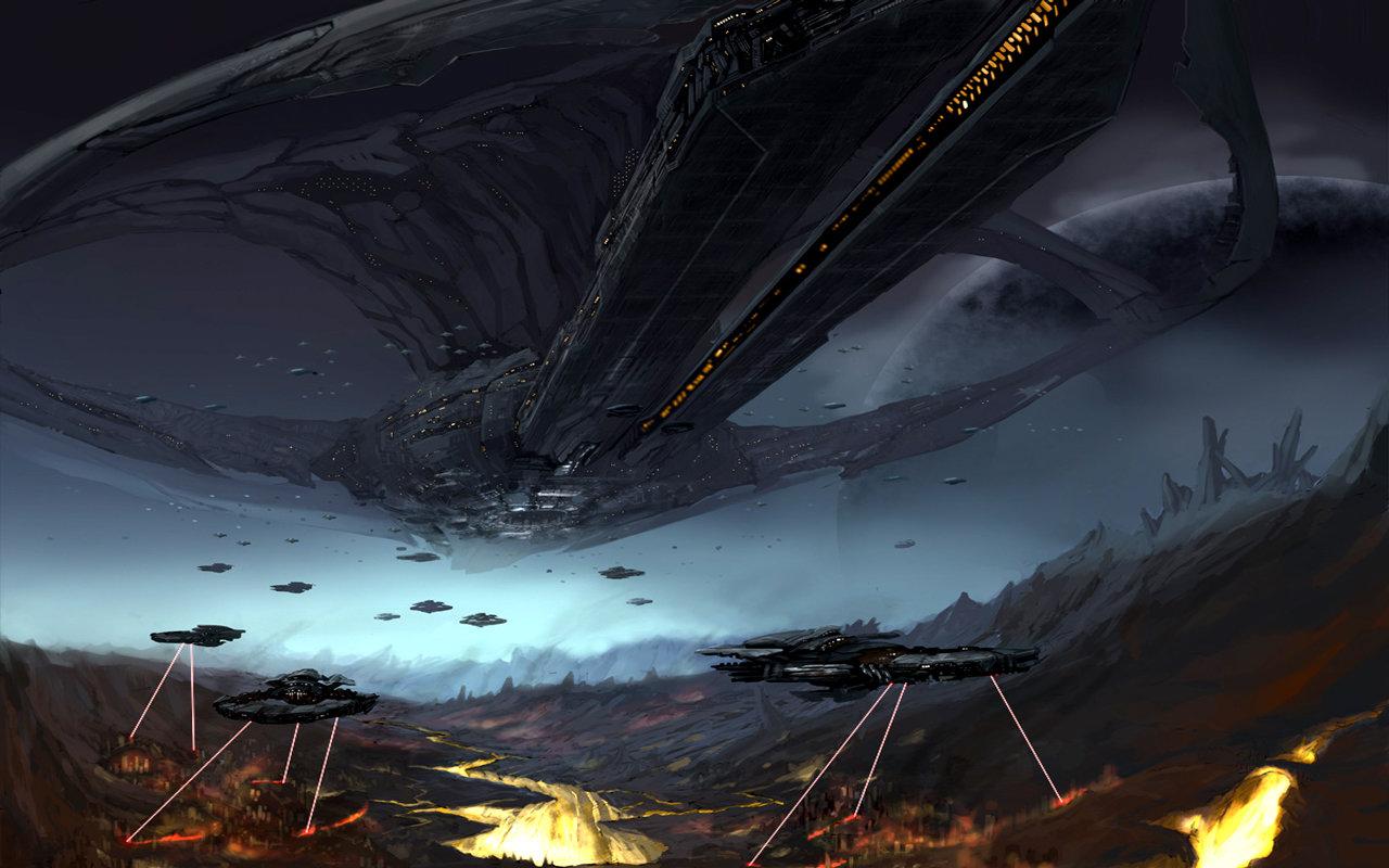 Epic Space Battle HD Backgrounds For 1280x800 Desktop