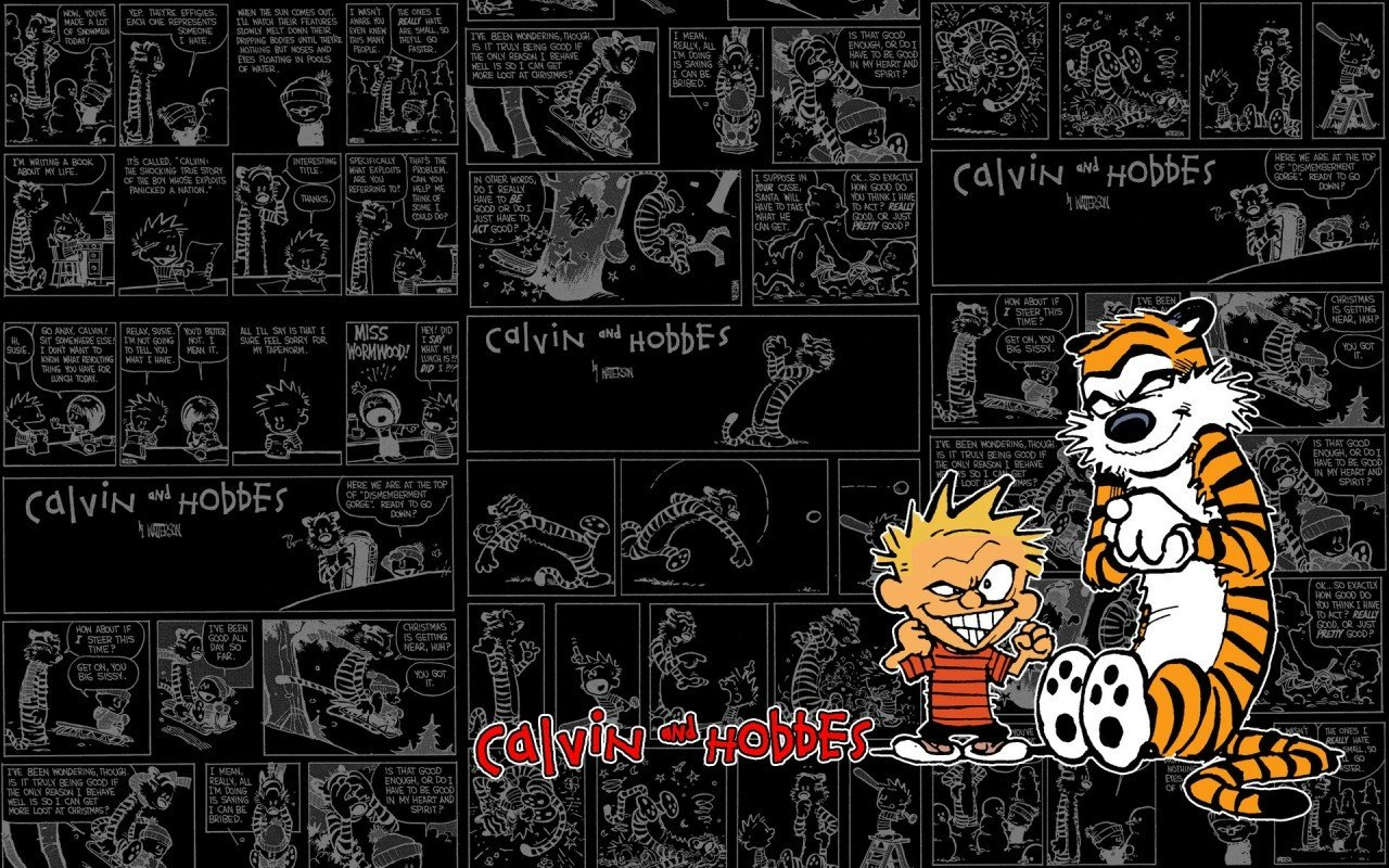 Free download Calvin and Hobbes background ID:211383 hd 1280x800 for PC