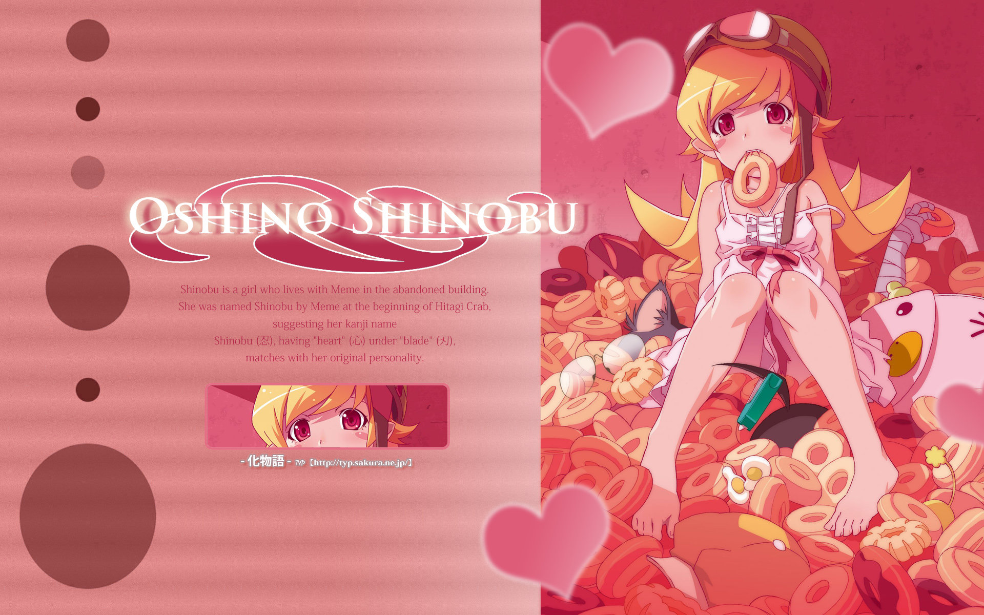 High resolution Shinobu Oshino hd 1920x1200 background ID:108929 for desktop