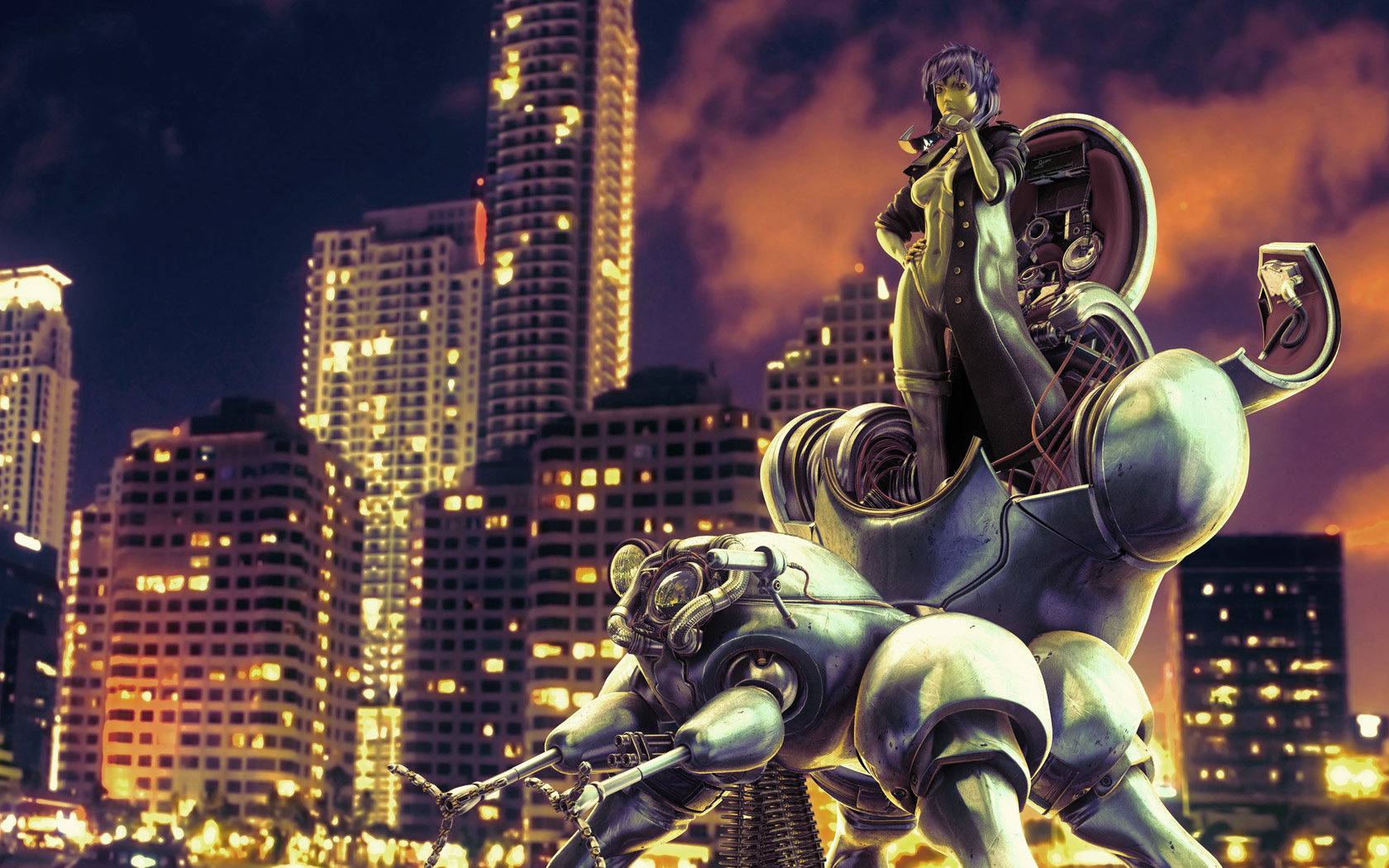 Free Download Ghost In The Shell Background Id 442014 Hd 1680x1050