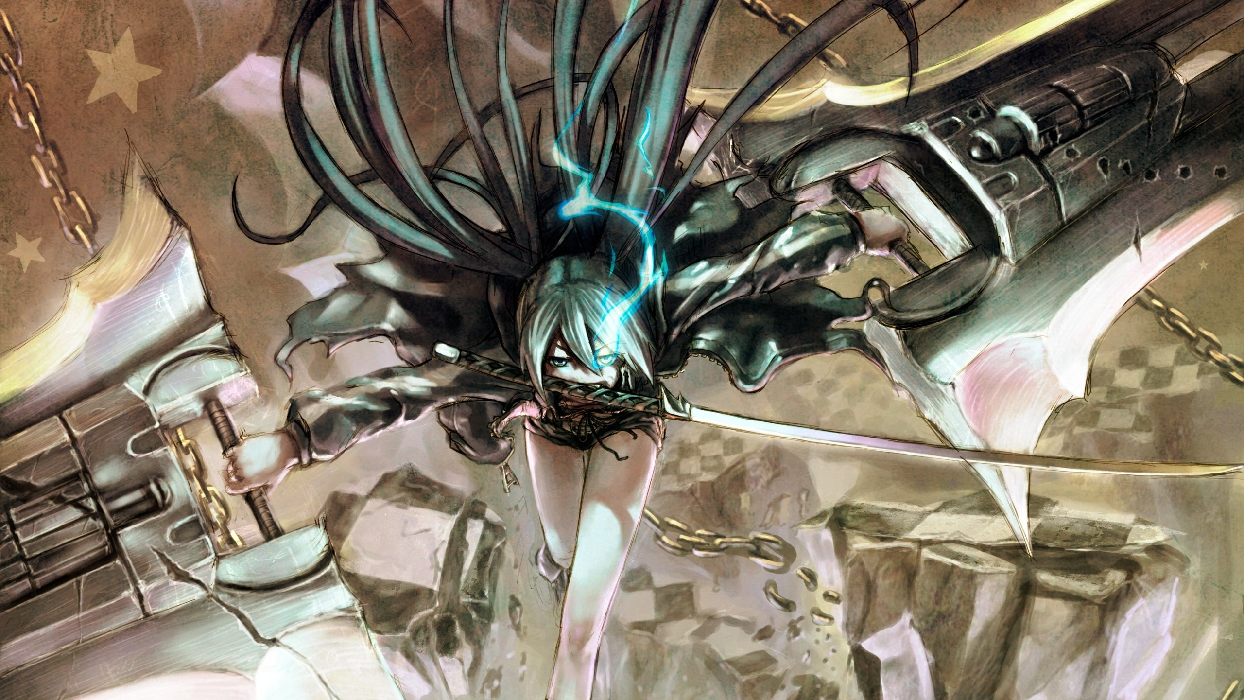 High resolution Black Rock Shooter hd 2560x1440 wallpaper ID:454098 for computer