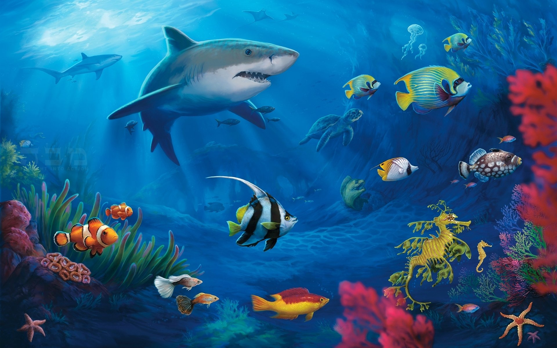 Awesome Shark free background ID:180559 for hd 1920x1200 computer