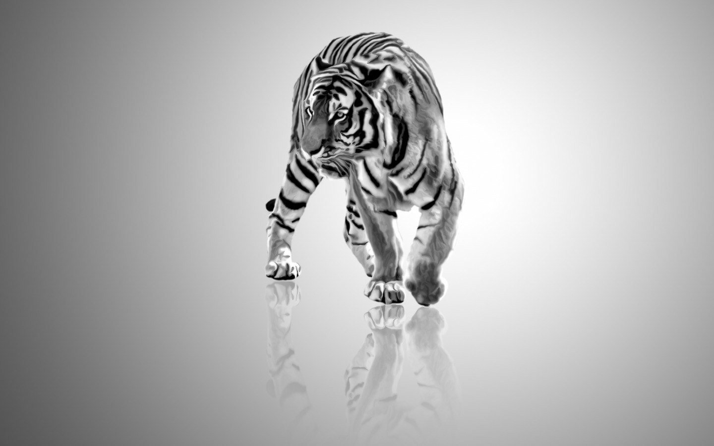 Awesome White Tiger free wallpaper ID:175034 for hd 1440x900 PC