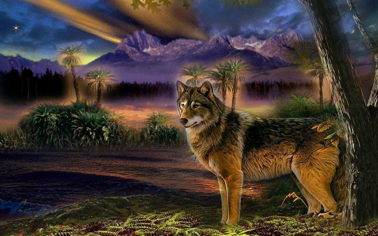 Awesome Wolf free background ID:118189 for hd 1440x900 desktop