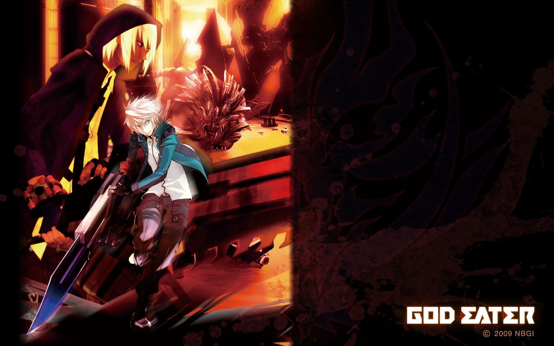 Download hd 1920x1200 God Eater PC background ID:409589 for free