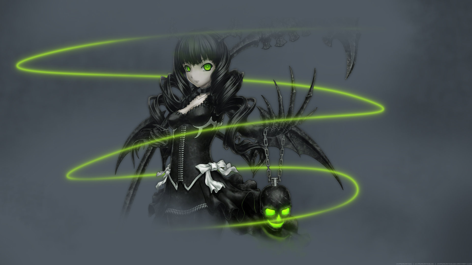Download full hd Dead Master (Black Rock Shooter) computer background ID:454769 for free