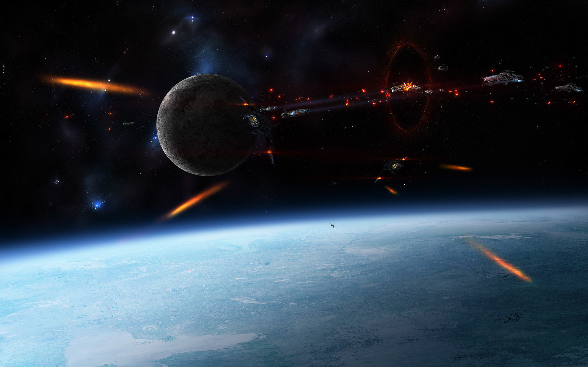 Best Epic Space Battle Wallpaper ID450459 For High Resolution Hd 1920x1200 Computer