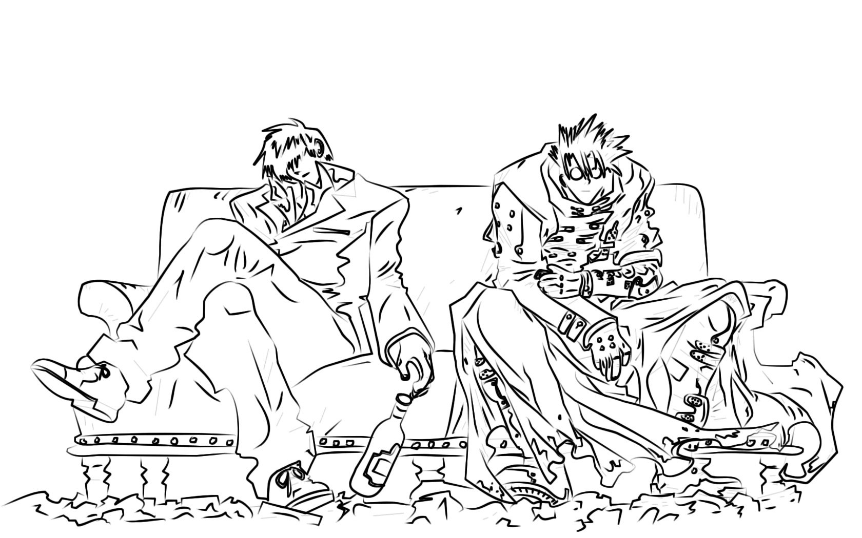 trigun coloring pages | Trigun wallpapers HD for desktop backgrounds
