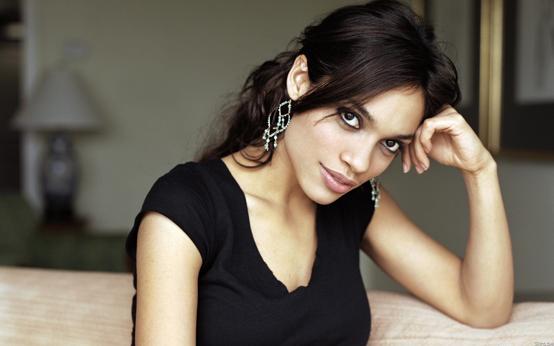 Download hd 1920x1200 Rosario Dawson PC background ID:381002 for free