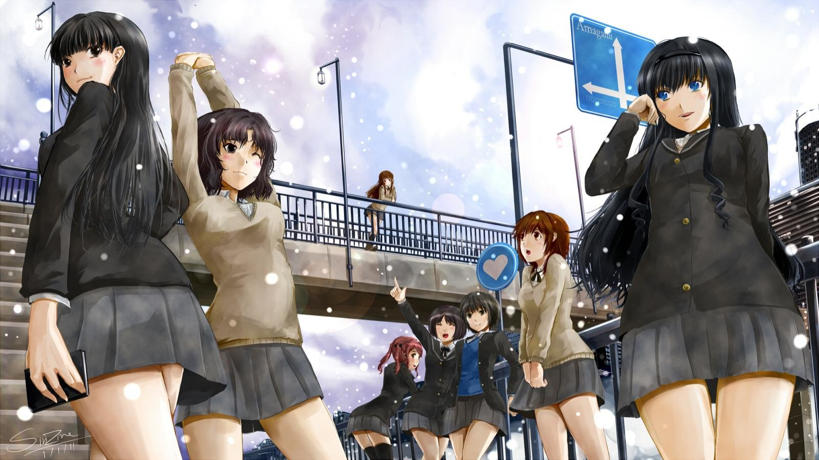High resolution Amagami SS hd 1600x900 wallpaper ID:253067 for computer
