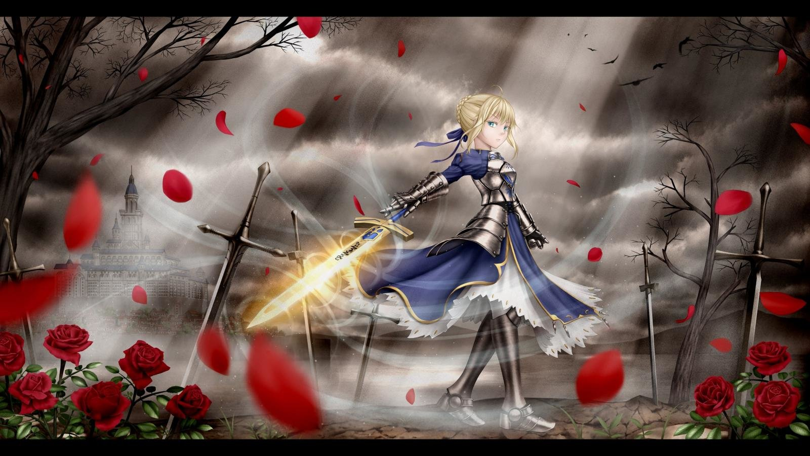 Free download Saber (Fate Series) background ID:468473 hd 1600x900 for PC