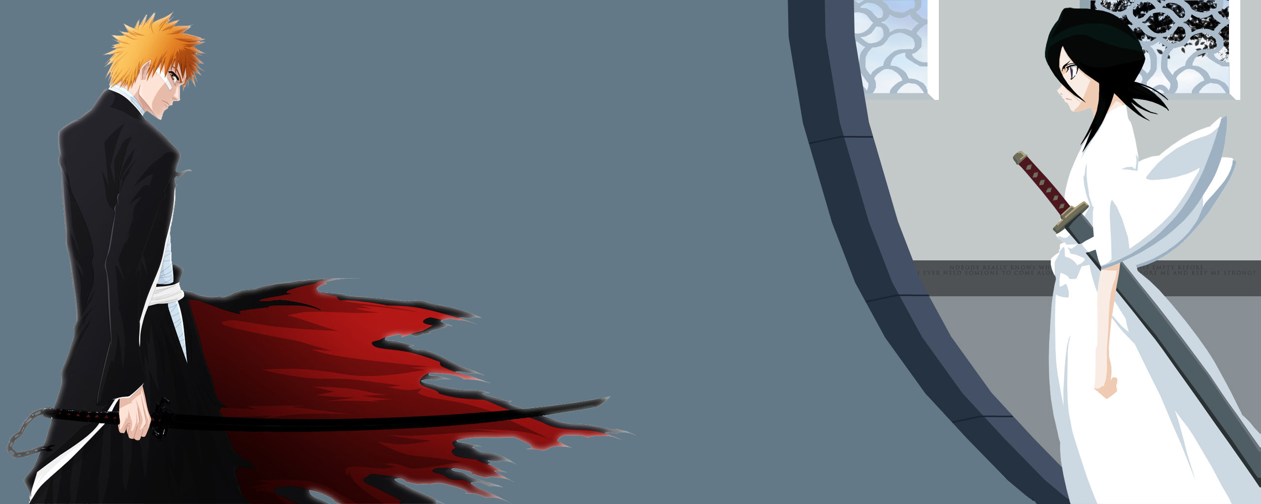 Free Rukia Kuchiki high quality background ID:411163 for dual monitor 2569x1024 PC