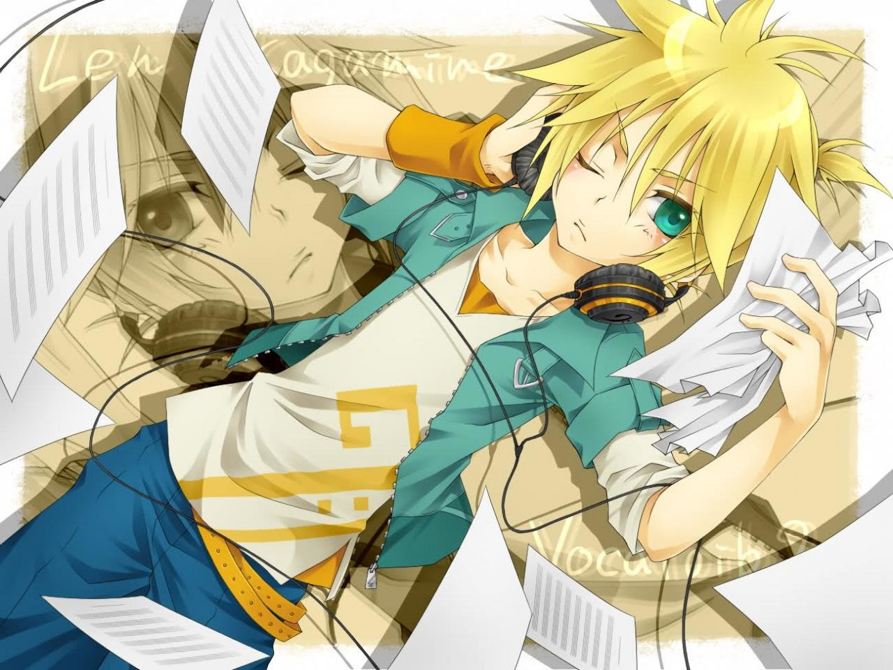 Download hd 1280x960 Len Kagamine desktop wallpaper ID:1334 for free