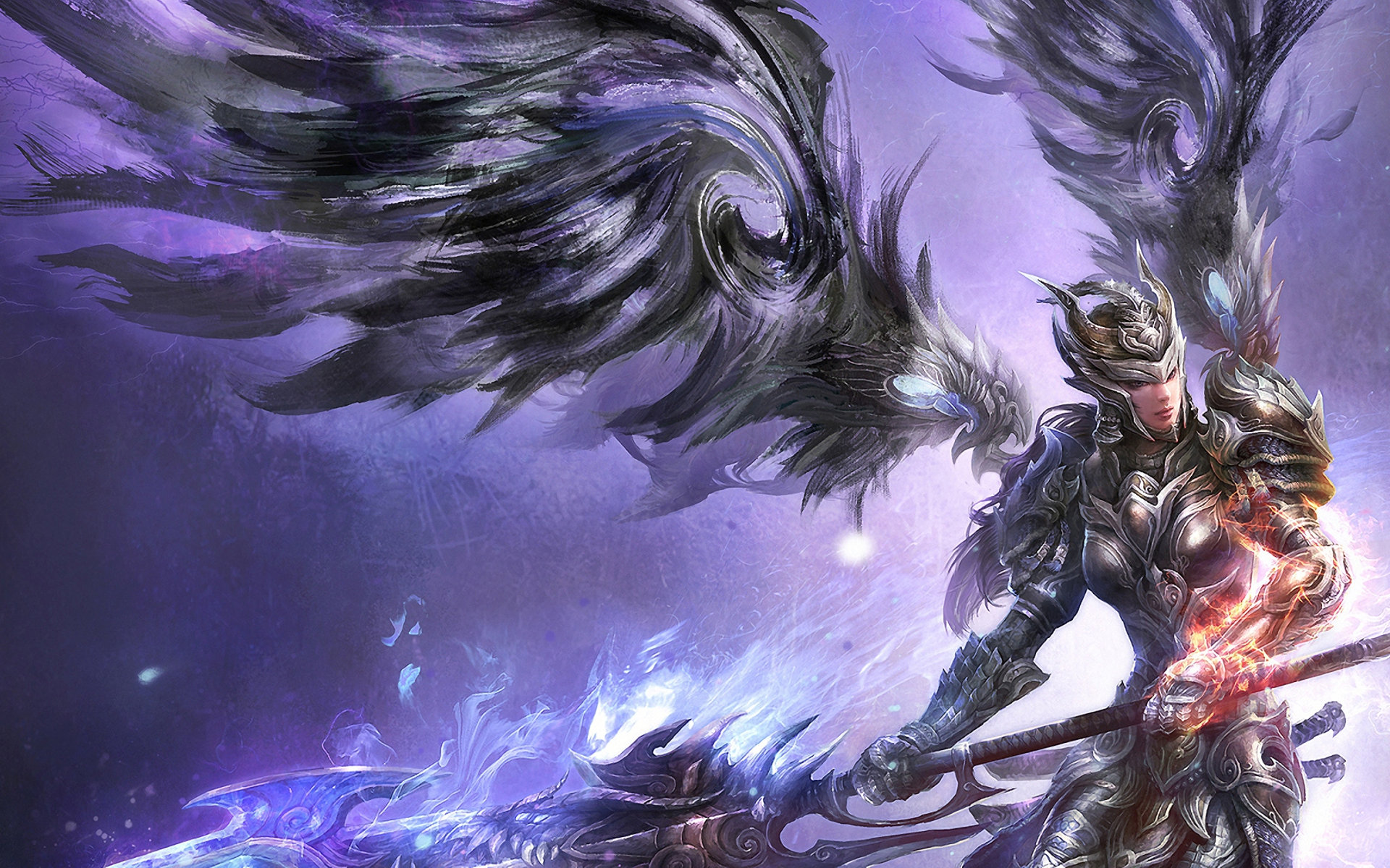 Download hd 1920x1200 Angel Warrior PC background ID:352345 for free
