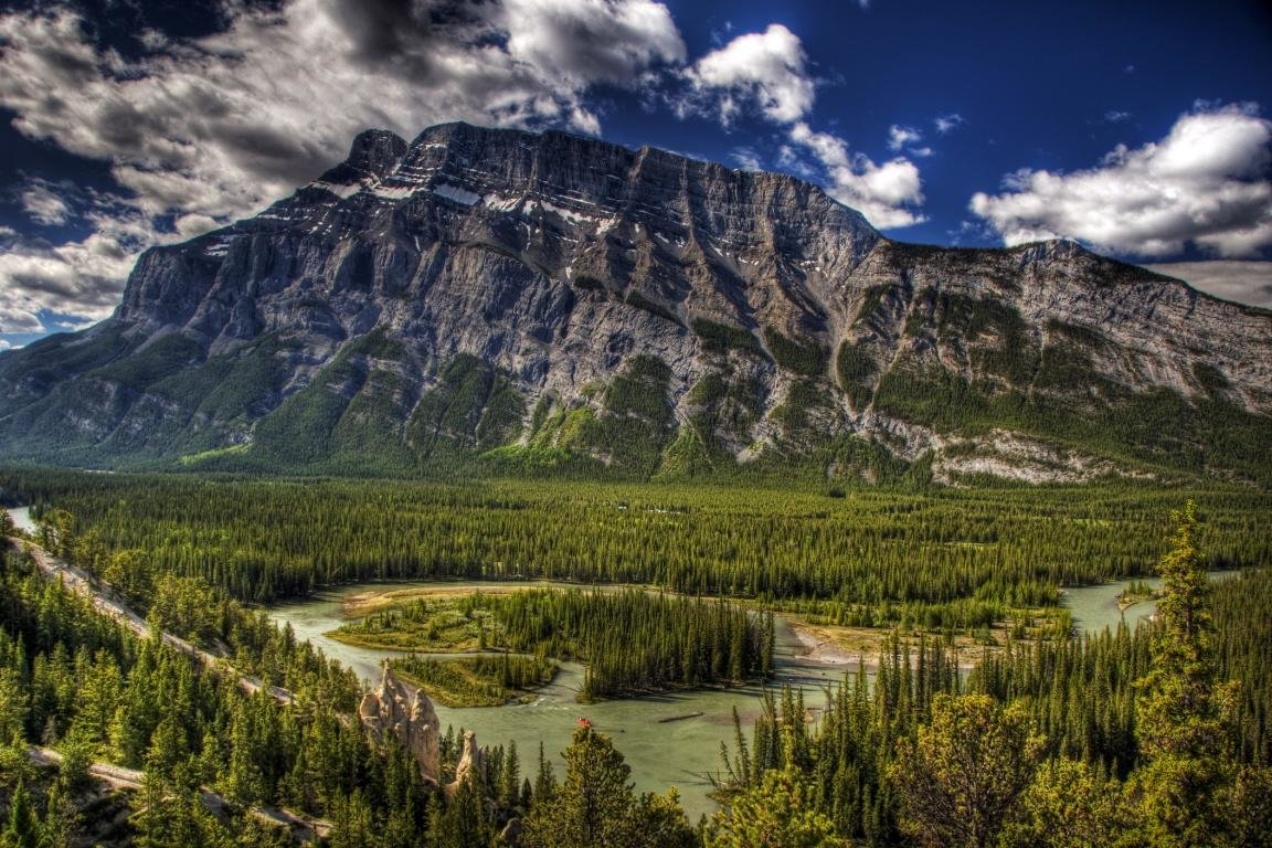 Download hd 1152x768 Canadian Rockies PC background ID:175509 for free