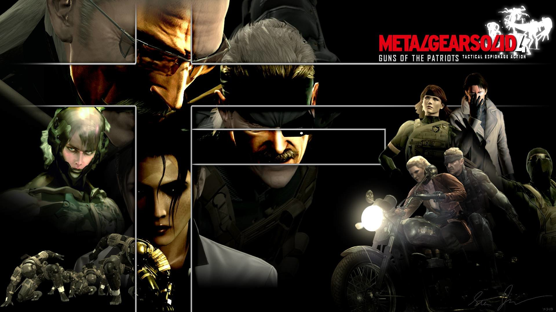 Metal Gear Solid 4 Guns Of The Patriots Mgs 4 Wallpapers