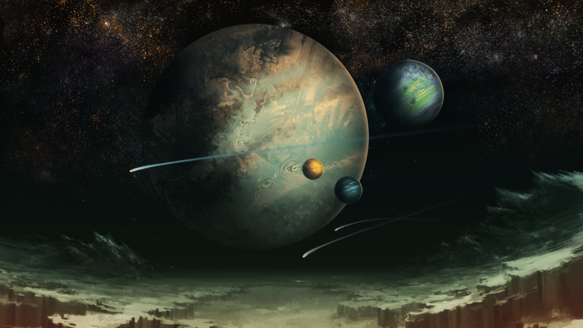 Best Planets wallpaper ID:152731 for High Resolution 1080p PC