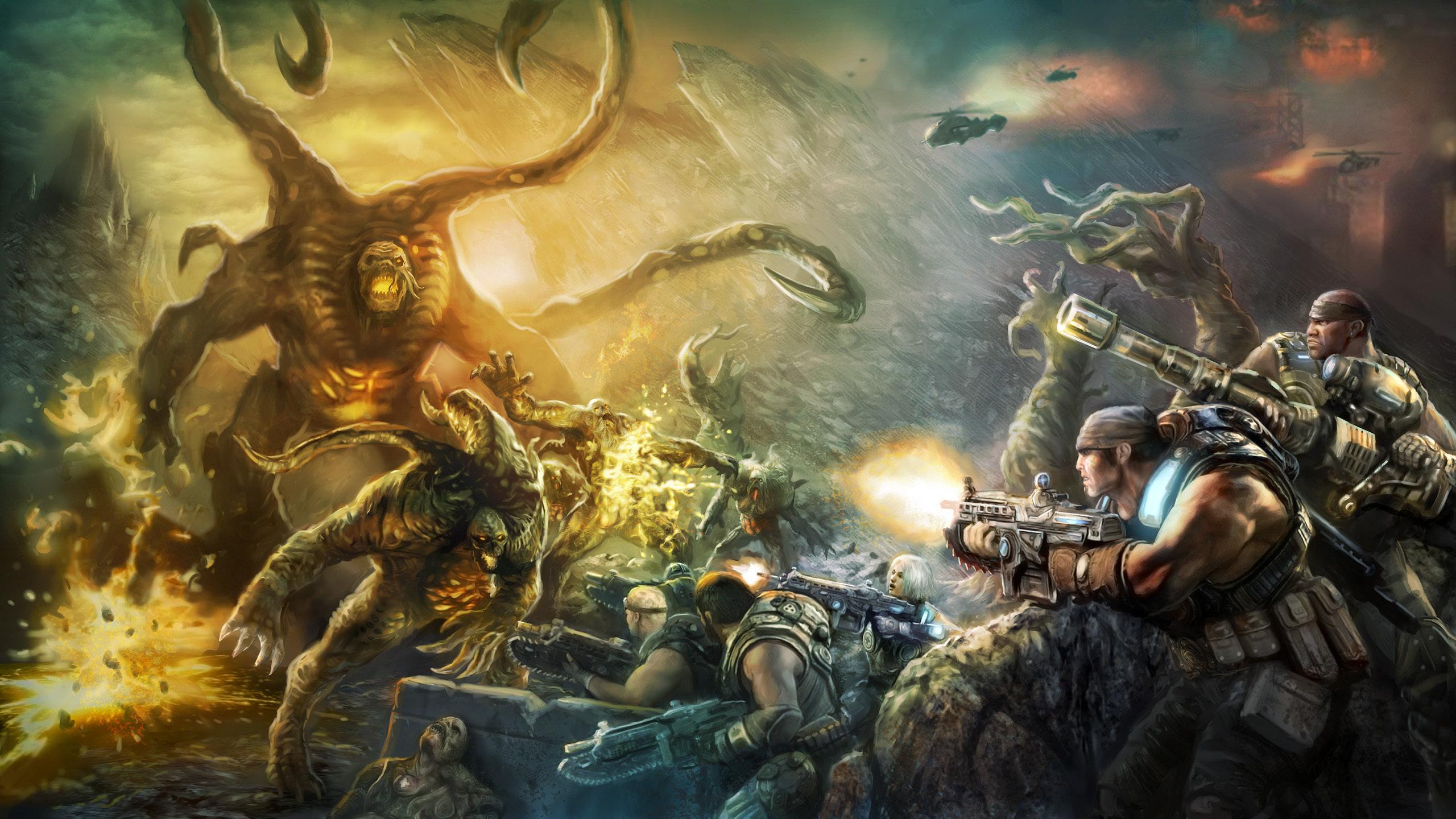 Gears Of War Wallpapers 2560x1440 Desktop Backgrounds