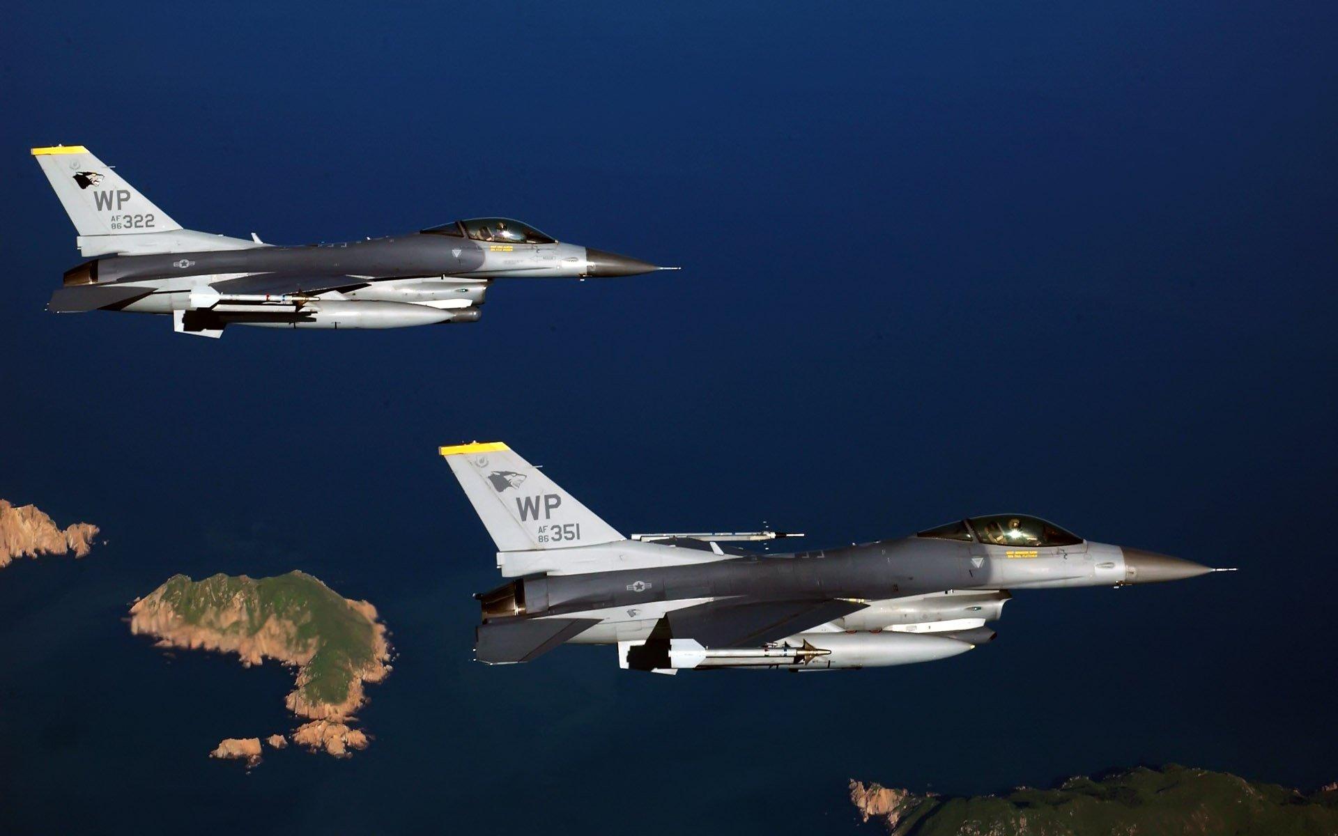 авиация самолет желтый F-16 Fighting Falcon  № 3755545 загрузить