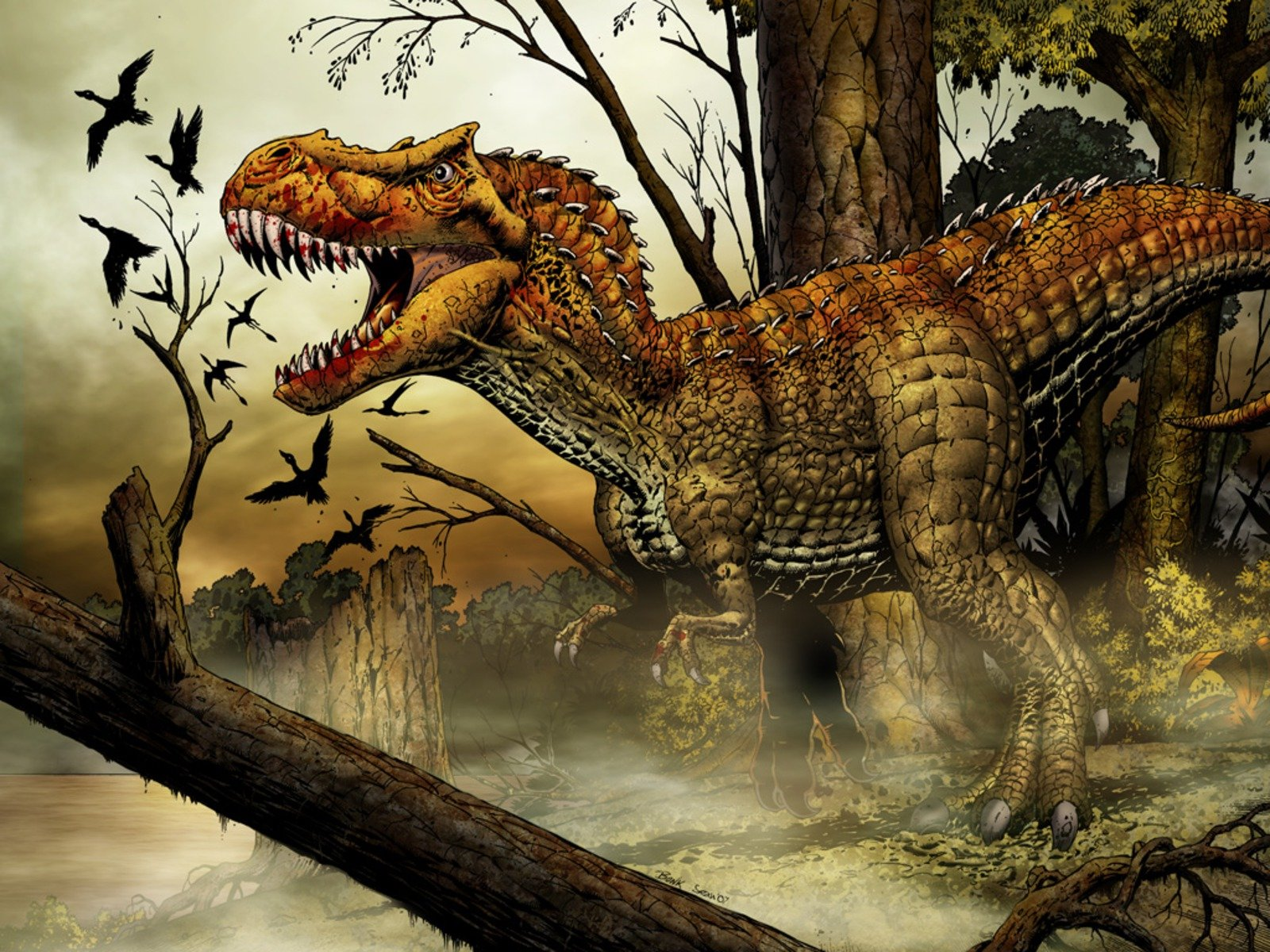 Awesome Tyrannosaurus Rex free wallpaper ID:73893 for hd 1600x1200 desktop