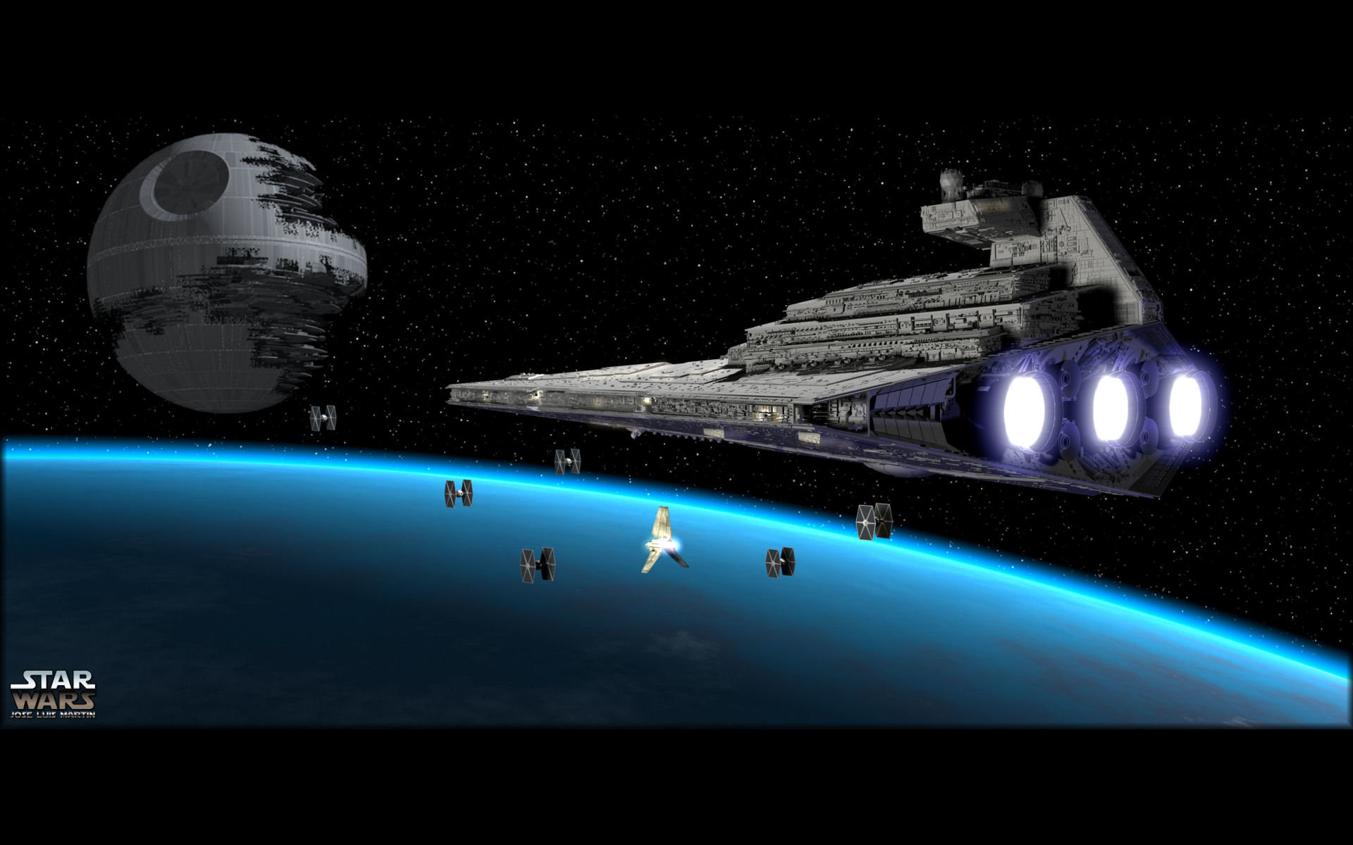 Death Star HD Backgrounds For 1920x1200 Desktop
