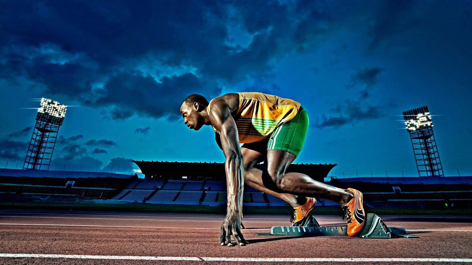 Awesome Usain Bolt free wallpaper ID:322655 for hd 1920x1080 PC