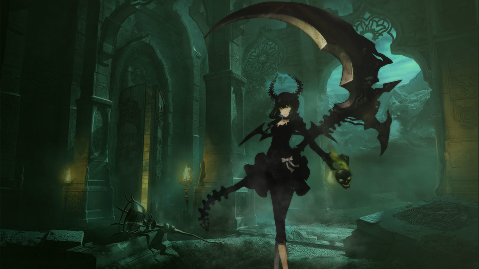 Awesome Dead Master (Black Rock Shooter) free background ID:454993 for hd 1920x1080 desktop