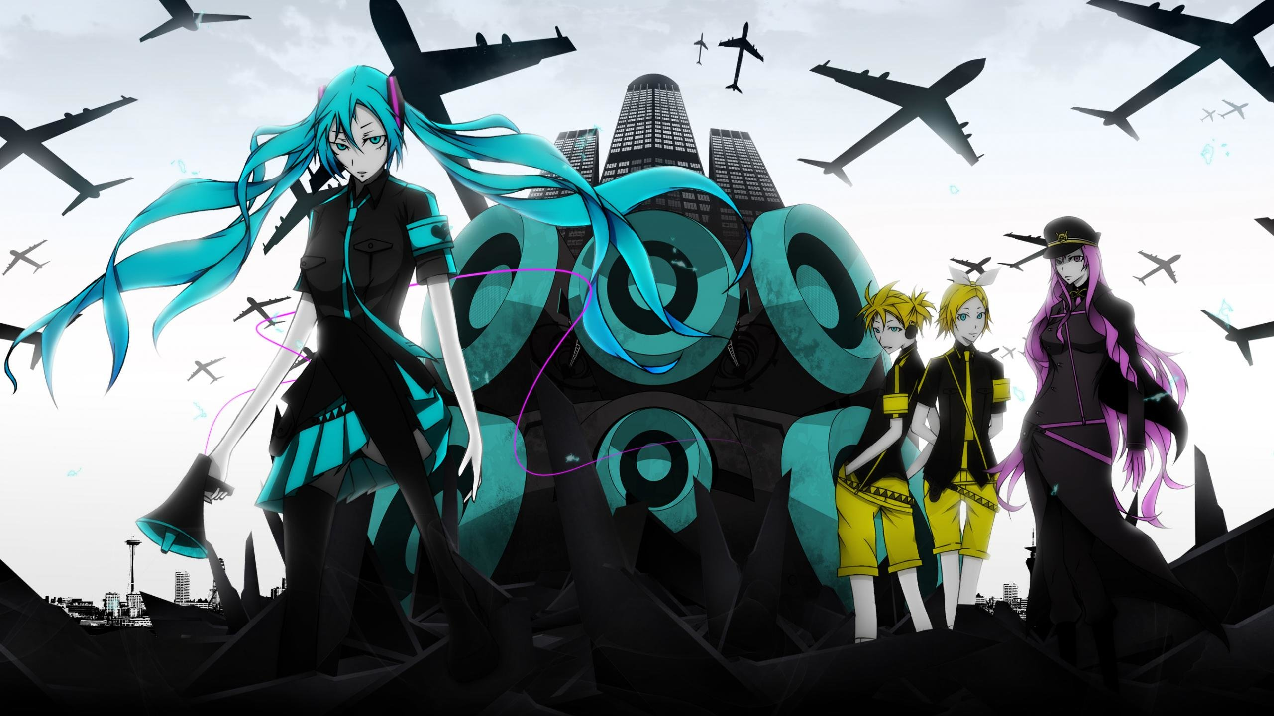 Download hd 2560x1440 Vocaloid computer wallpaper ID:2635 for free