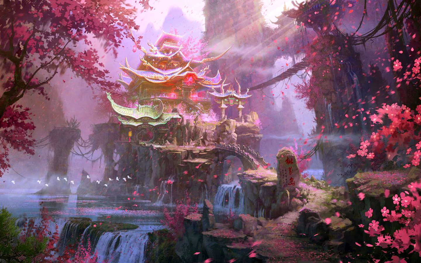 High resolution Fantasy landscape hd 1440x900 background ID:143093 for PC
