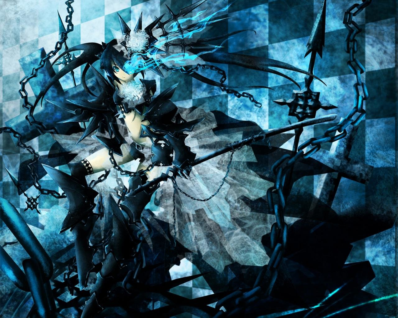 Free download Black Rock Shooter background ID:454263 hd 1280x1024 for desktop