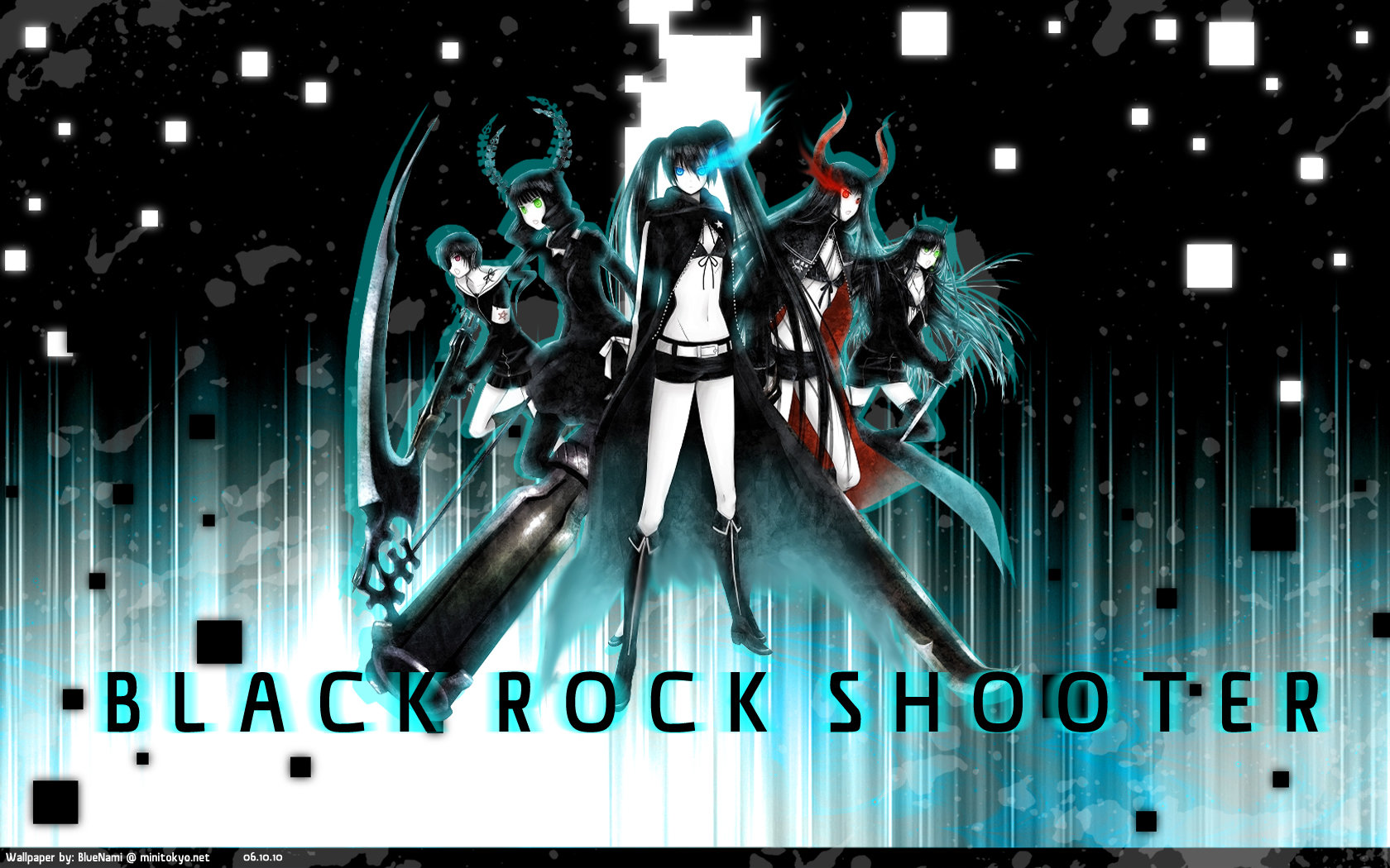 High resolution Dead Master (Black Rock Shooter) hd 1680x1050 background ID:454798 for PC
