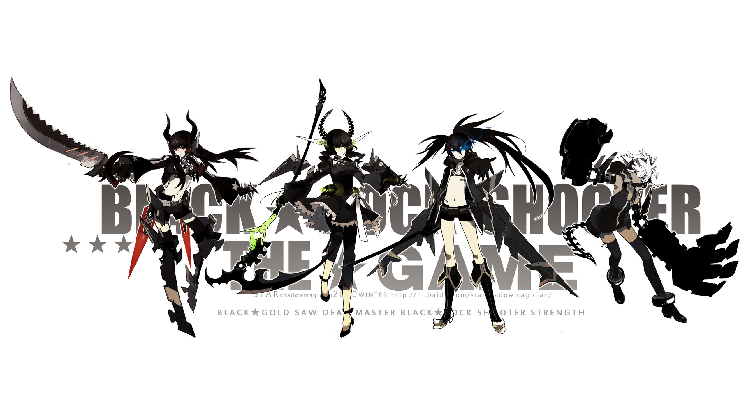 Awesome Dead Master (Black Rock Shooter) free background ID:454581 for hd 2560x1440 desktop