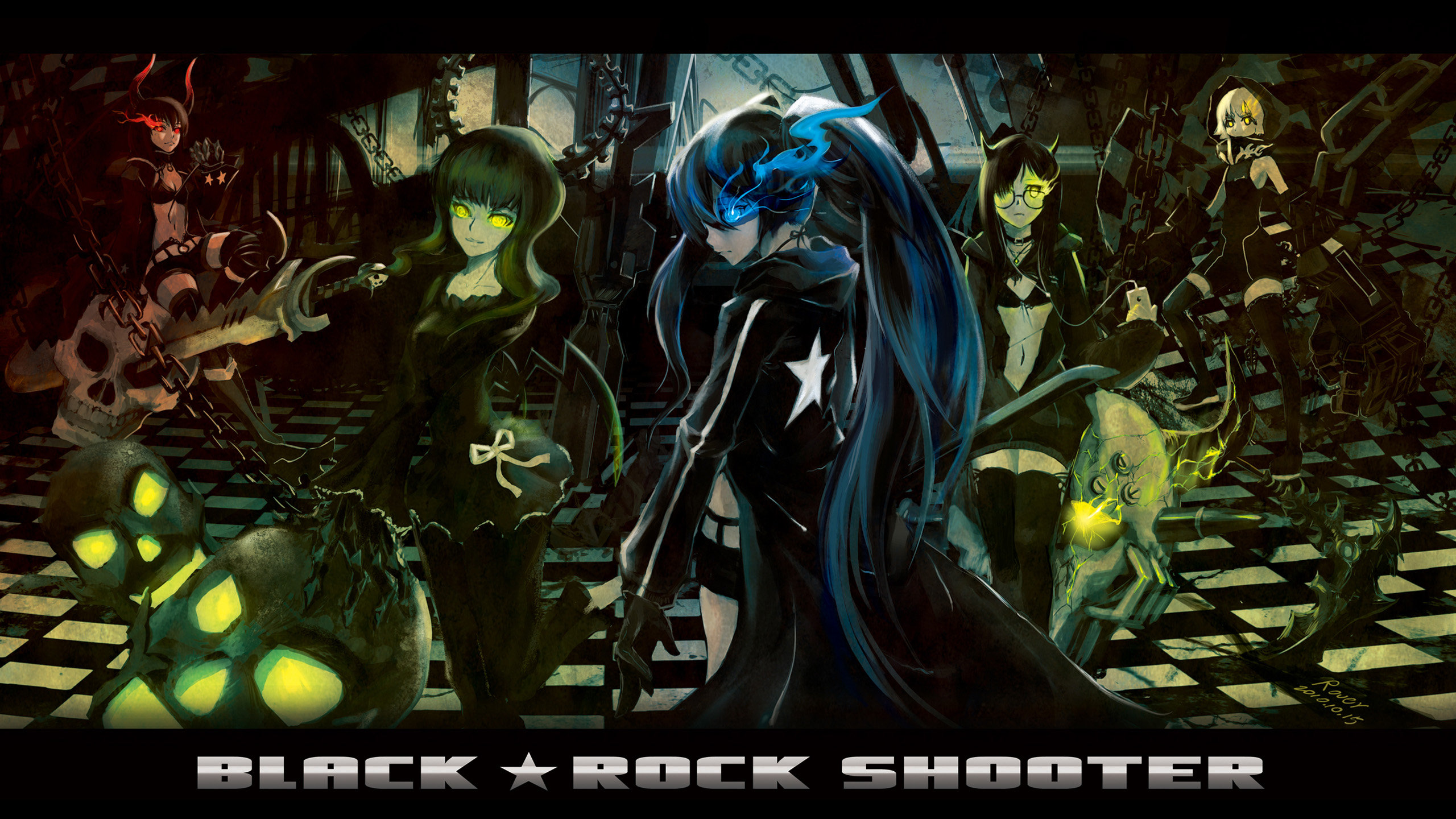 High resolution Dead Master (Black Rock Shooter) hd 2560x1440 wallpaper ID:454853 for PC