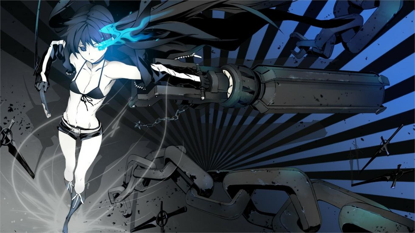 Download hd 1366x768 Black Rock Shooter PC background ID:454605 for free