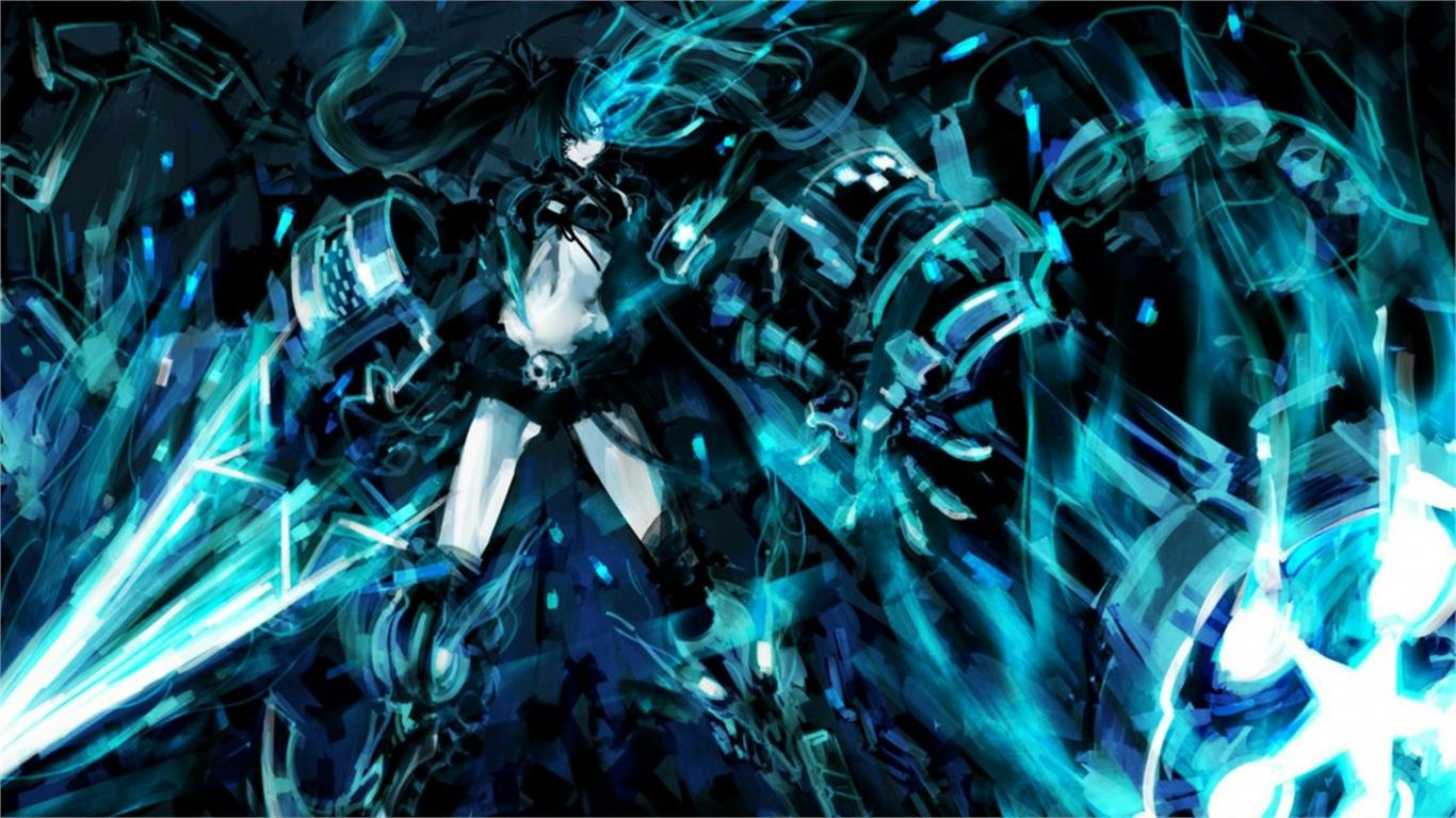 Free download Black Rock Shooter background ID:454801 hd 1366x768 for desktop