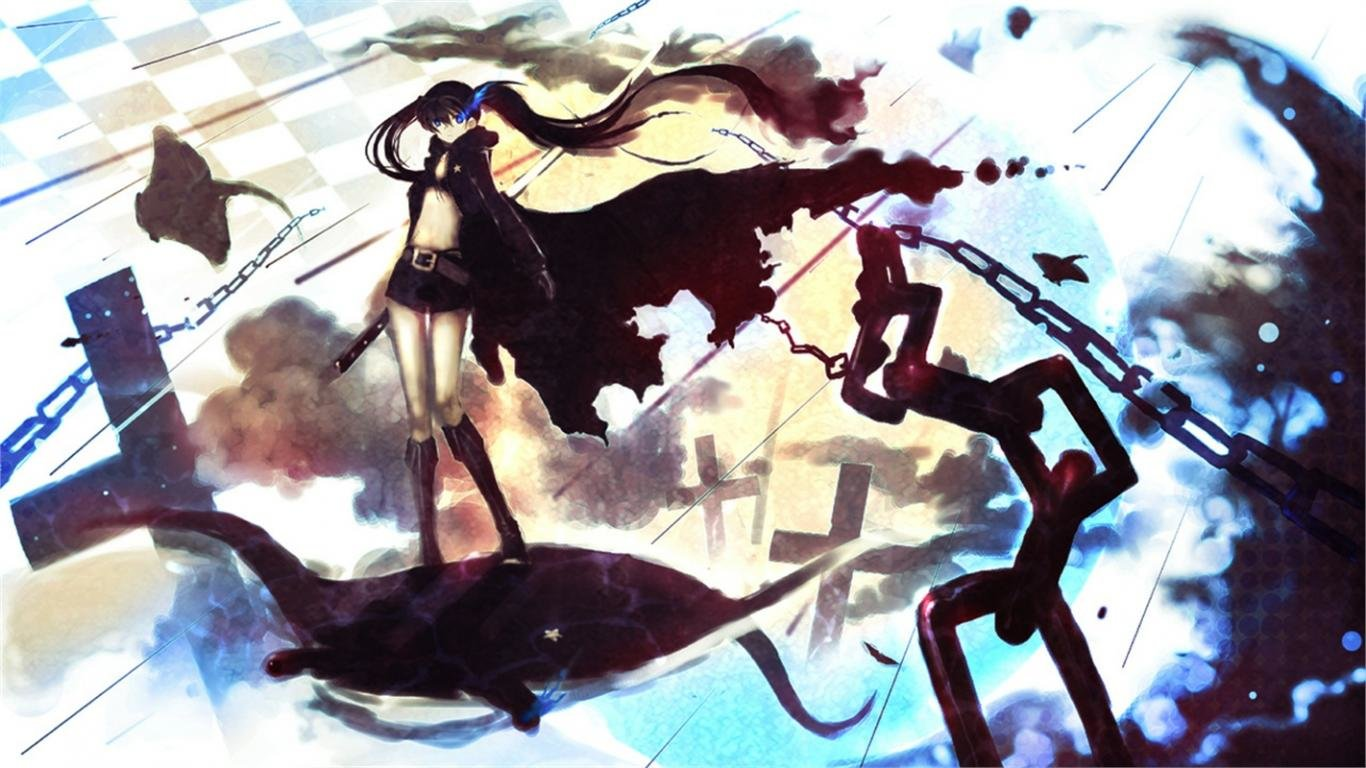Best Black Rock Shooter wallpaper ID:453726 for High Resolution 1366x768 laptop computer