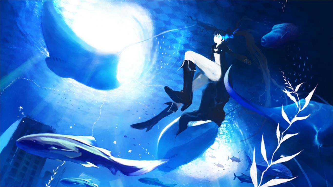 Download hd 1366x768 Black Rock Shooter computer wallpaper ID:453724 for free