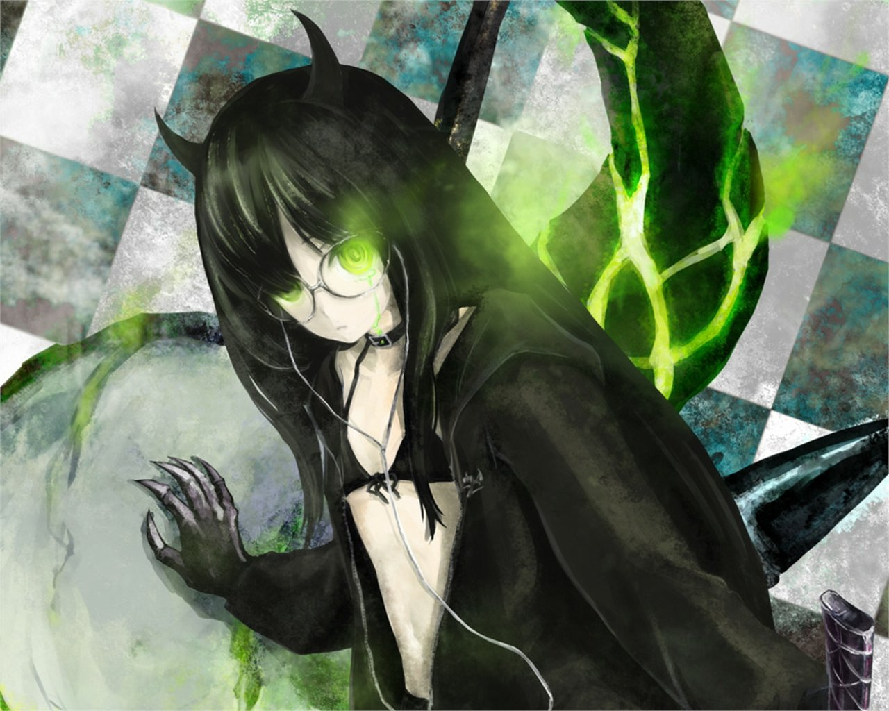 Free download Dead Master (Black Rock Shooter) background ID:454368 hd 1280x1024 for desktop