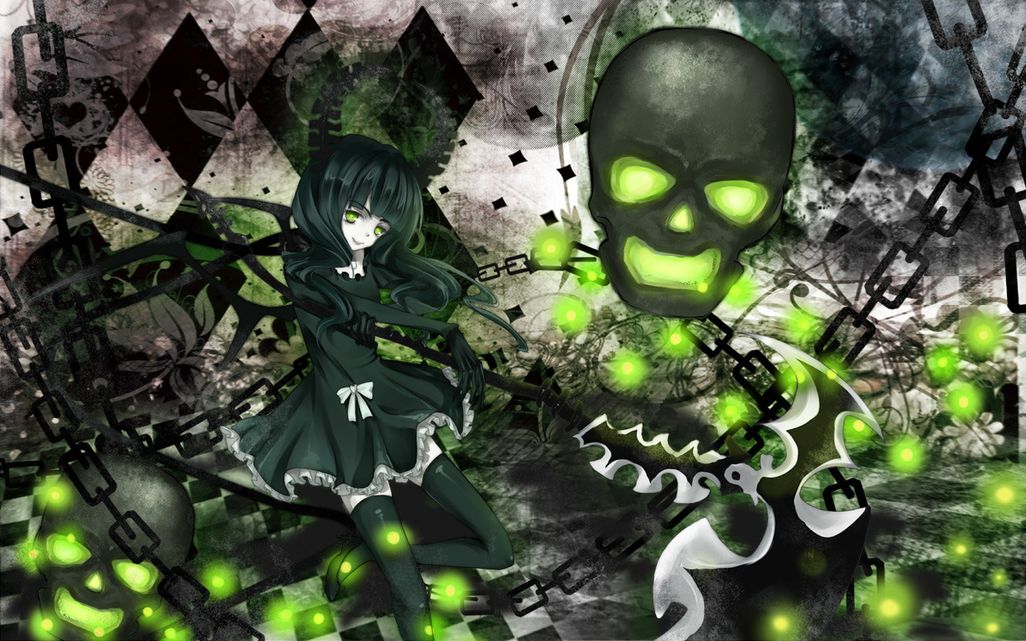 Free Dead Master (Black Rock Shooter) high quality background ID:454323 for hd 1440x900 computer