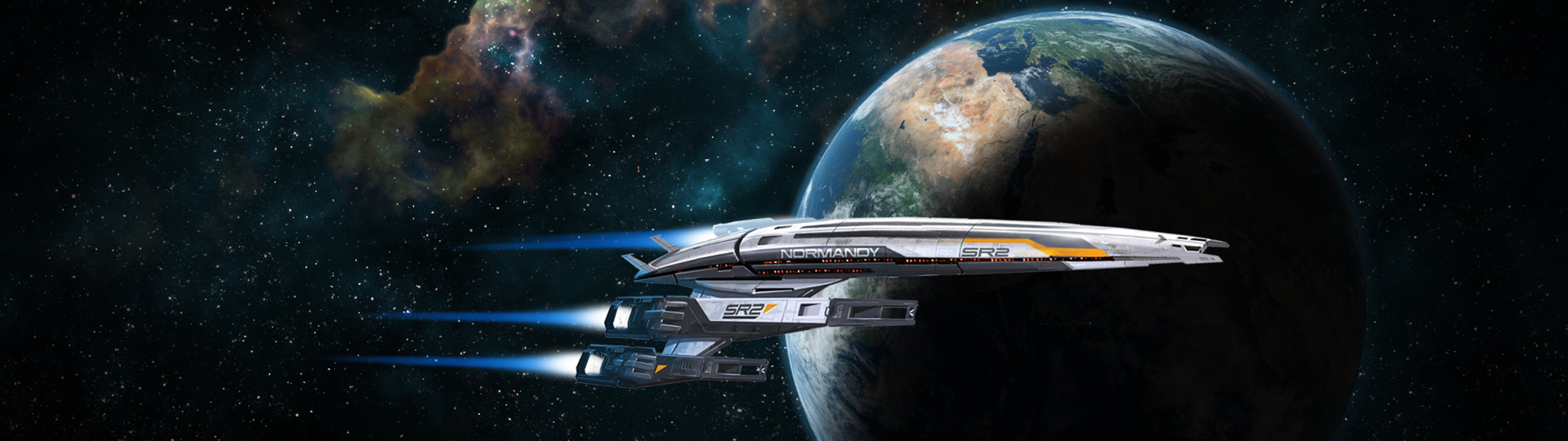 High resolution Spaceship dual screen 3200x900 background ID:184347 for PC