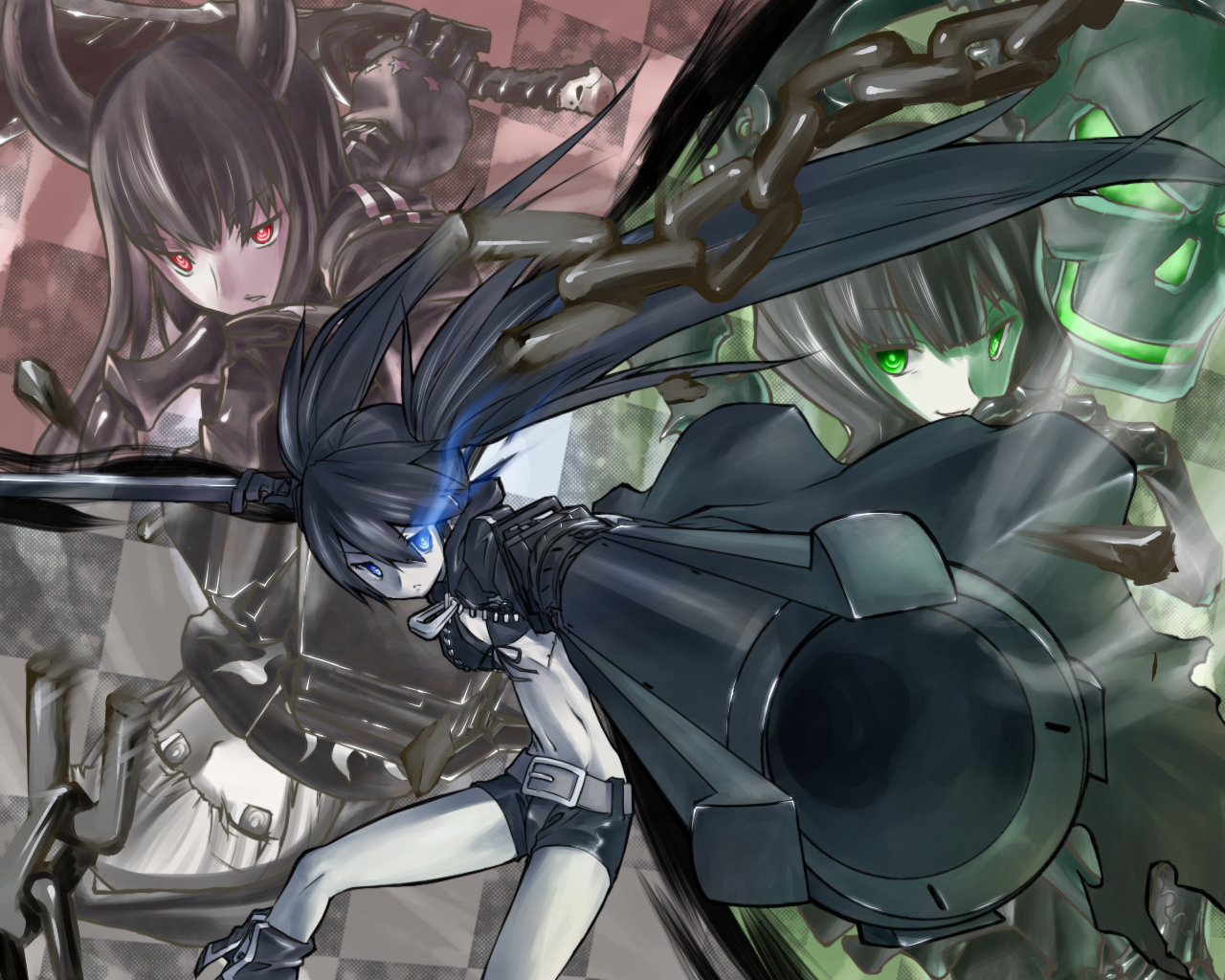 Awesome Dead Master (Black Rock Shooter) free background ID:454857 for hd 1280x1024 computer